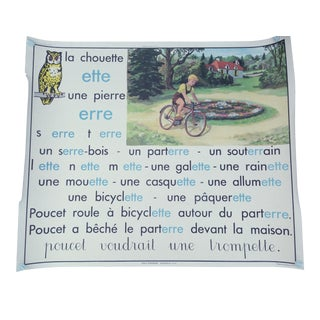French Lesson Poster, Double Sided