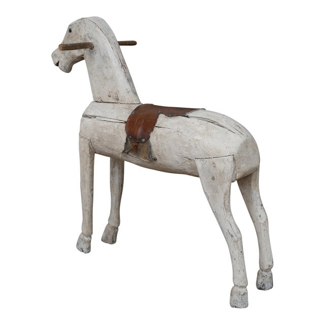 19th Century Carved and Painted Folk Art Swedish Toy Horse For Sale - Image 4 of 6