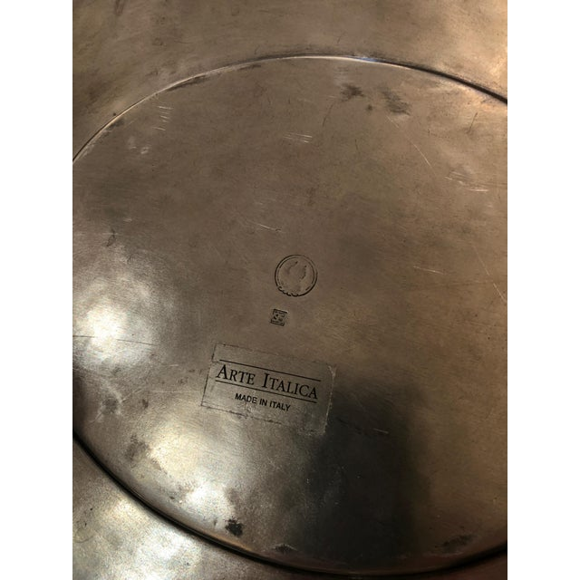 Metal Handsome Arte Italica Pewter Soup Tureen and Ladle For Sale - Image 7 of 9
