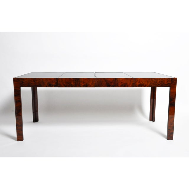 Wood Hungarian Walnut Veneer Dining Table With Extensions For Sale - Image 7 of 13