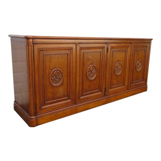 Hollywood Regency Sideboard Buffet Tv Media Console Credenza by Henredon For Sale