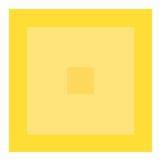 "Minimal Geometric Color Study Print in Lemon Yellow - 24"" X 24"" Unframed For Sale"