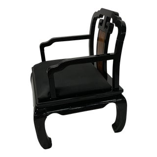 1970s Vintage James Mont Style Horseshoe Chair For Sale