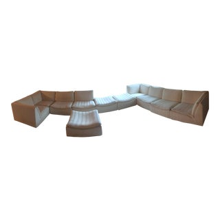 Mid-Century Sectional Sofa & Ottoman Set - Set of 11