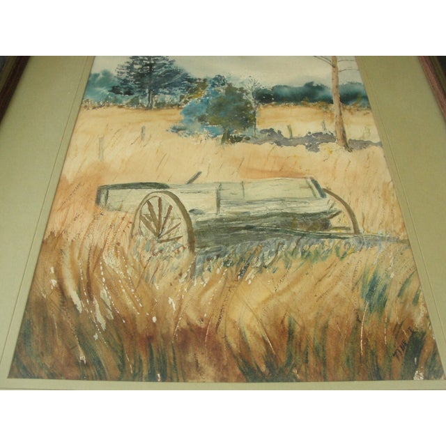 Country Impressionist Landscape Watercolor Painting For Sale - Image 3 of 7