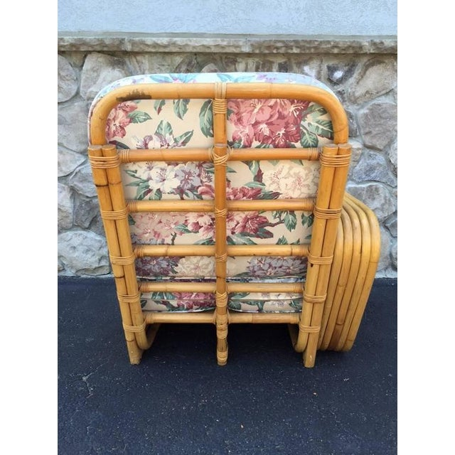 Mid-Century Modern Square Pretzel Rattan Sofa Style of Paul Frankl For Sale - Image 3 of 5