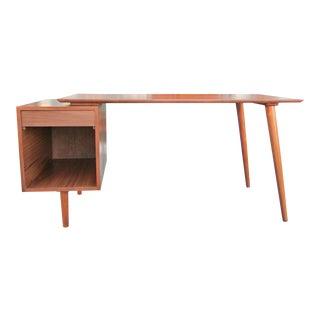 Mid-Century Style Walnut Desk For Sale