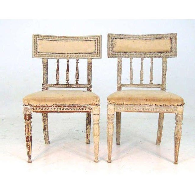 Gustavian (Swedish) Pair of Gustavian Chairs For Sale - Image 3 of 3