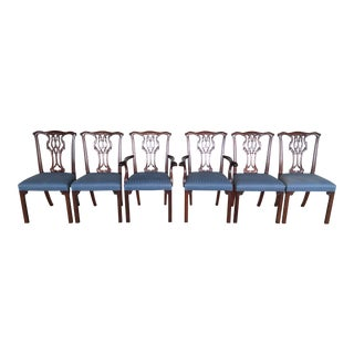 Councill Craftsman Mahogany Chippendale Style Dining Chairs - Set of 6 For Sale