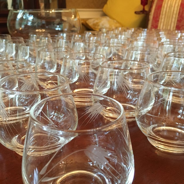 1960s Ambassador to Italy's Crystal Punch Glasses & Bowl - Set of 73 For Sale - Image 5 of 12