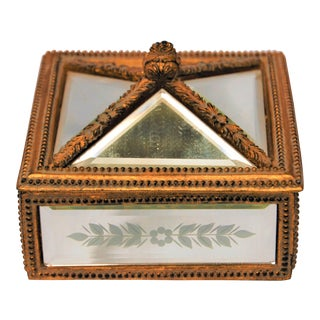Decorative Etched Mirrored Box
