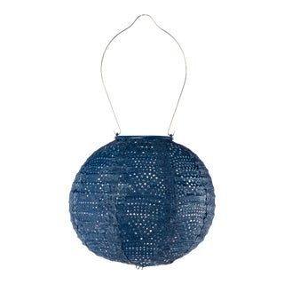 Soji Stella Outdoor Globe Lantern in Ultramarine Wave For Sale