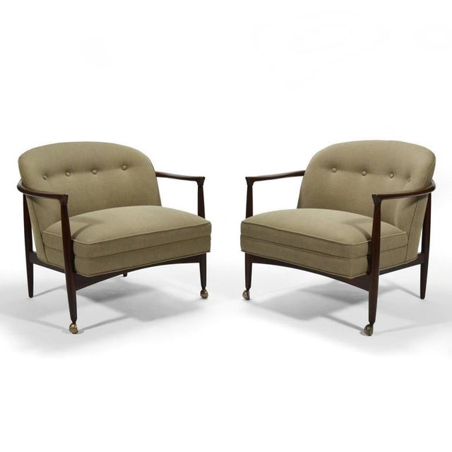 Finn Andersen Barrel-Back Lounge Chairs - Image 3 of 11