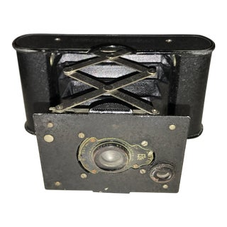 Ww I Era ~1915 Kodak Vest Pocket Compact Film Camera, Complete With Case For Sale