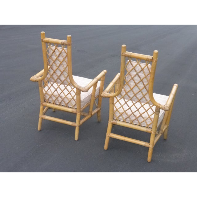 Vintage Mid Century Bamboo Chairs - A Pair - Image 6 of 10