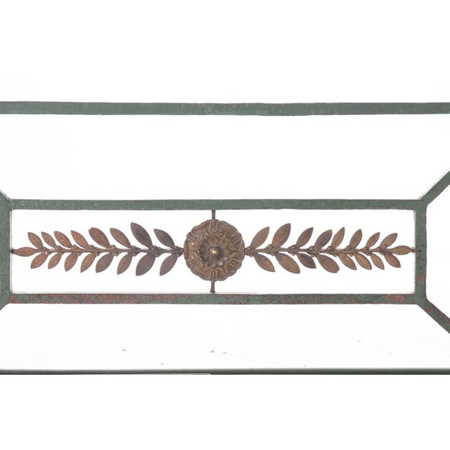 French 19th Century Painted Iron and Bronze Umbrella Stand For Sale In Baton Rouge - Image 6 of 10