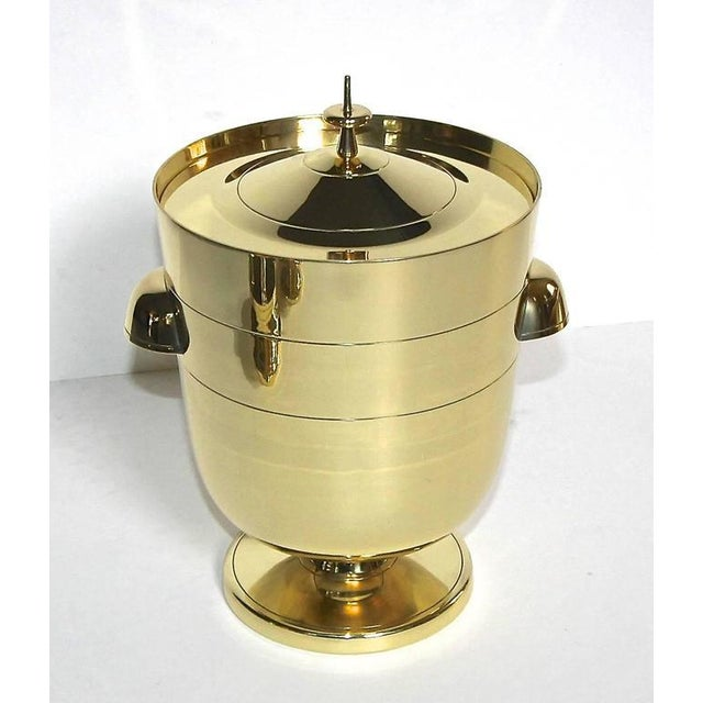 1950s Vintage Tommi Pazinger for Dorlyn Brass Ice/Champagne Bucket For Sale In Dallas - Image 6 of 11
