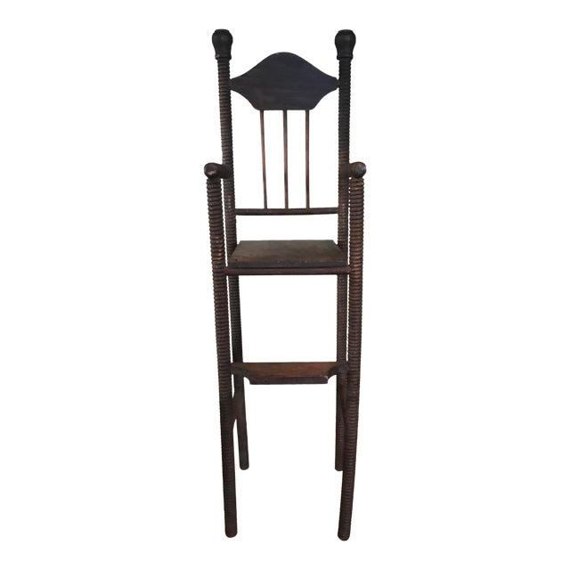 Wood Children's Toy High Chair For Sale
