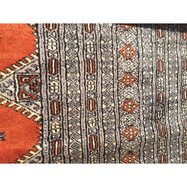 Red Rust/Cream Royal Bokhara Rug - 8′3″ × 11′3″ For Sale - Image 9 of 11