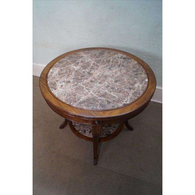 Drexel Heritage Mahogany Regency Center Table - Image 7 of 10