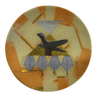 "Original ""Birdie"" Collage Plate For Sale"
