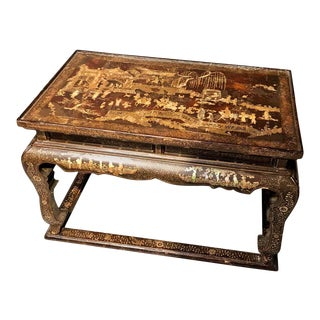 Early 19th Century Chinoiserie Decorated Side, Coffee Table or Stool For Sale
