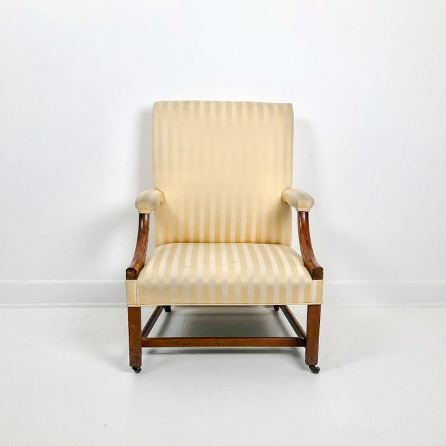 Late 18th Century Chippendale Mahogany Library Chair, England Circa 1770 For Sale - Image 5 of 5