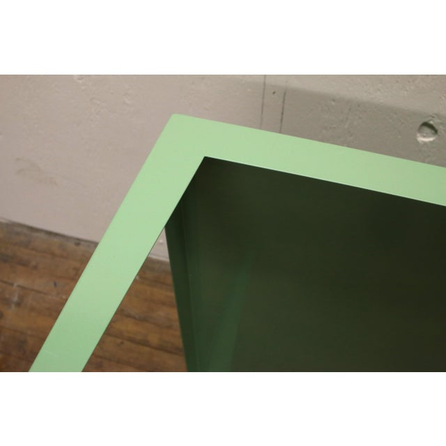 Metal 1950s Mint Green Mid-Century Powder Coated Steel Coffee Table For Sale - Image 7 of 13