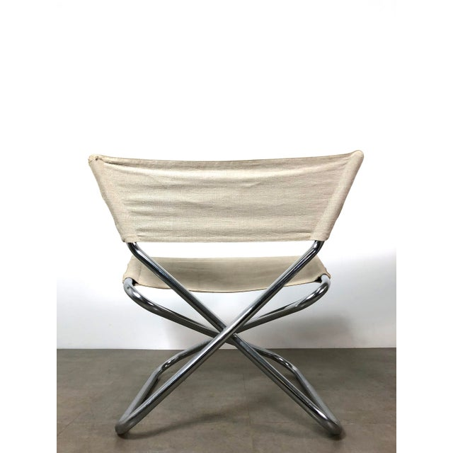1960s 1960s Erik Magnussen Chrome Sling Z Down Chairs - a Pair For Sale - Image 5 of 9