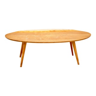 1950s Mid Century Russel Wright Conant Ball Elliptical Rolled Edge Coffee Table For Sale