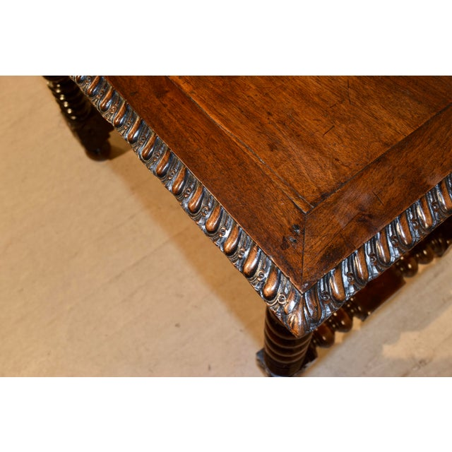 Brown 18th Century Walnut Side Table For Sale - Image 8 of 10