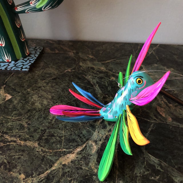 Folk Art Mexican Hand Carved Alebrijes - a Pair For Sale - Image 3 of 10