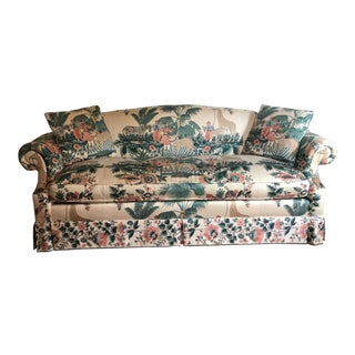1980s Vintage Pearson British West Indies Jungle Print Sofa