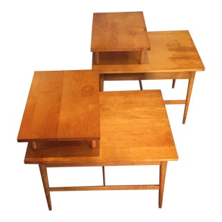Paul McCobb Planner Group Two Tiered Side Tables - A Pair For Sale