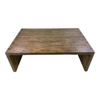 Sherrill Occasional Modern Sandblasted Ash Sonoma Cocktail Table For Sale