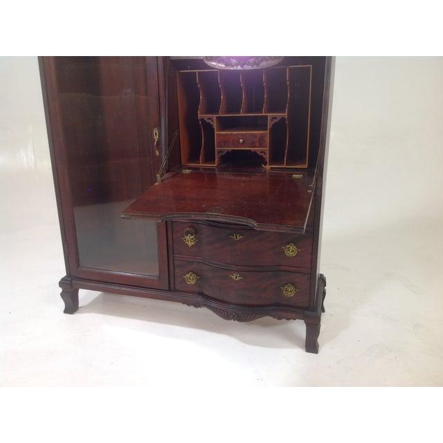 Antique Mahogany Victorian Curio/Desk - Image 6 of 9