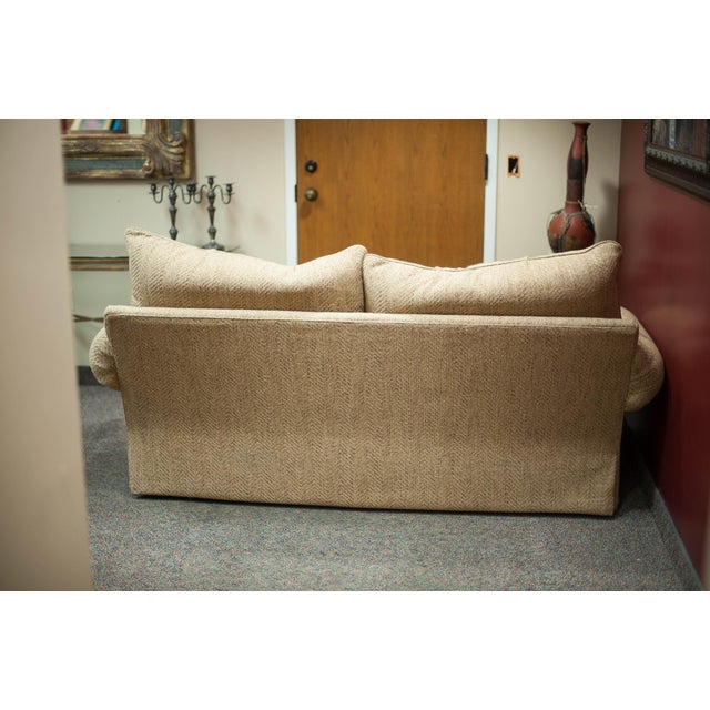 Hickory White Speckled Tan Love Seat - Image 5 of 10