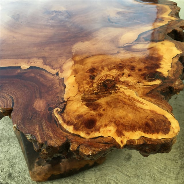 Live Edge Wooden Coffee Table - Image 7 of 11