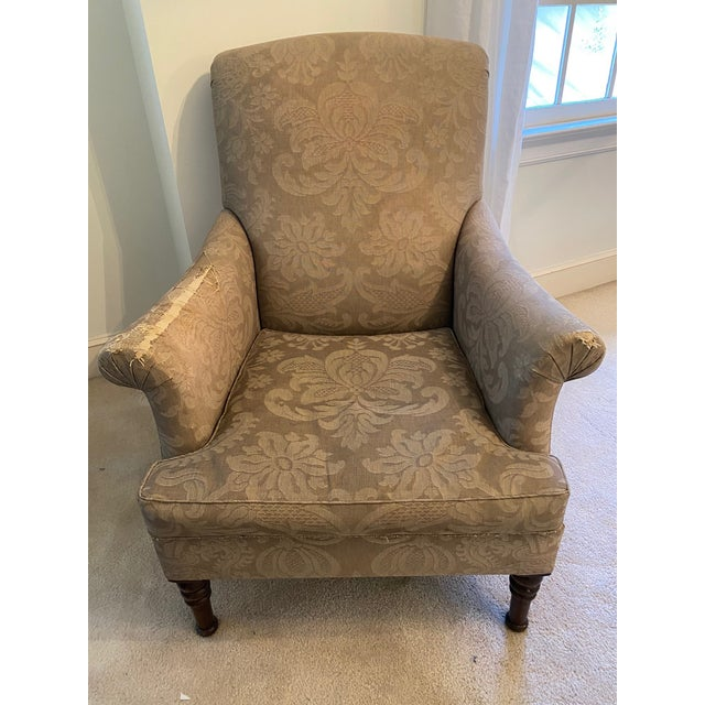 Olive Holly Hunt Upholstered Chair For Sale - Image 8 of 8