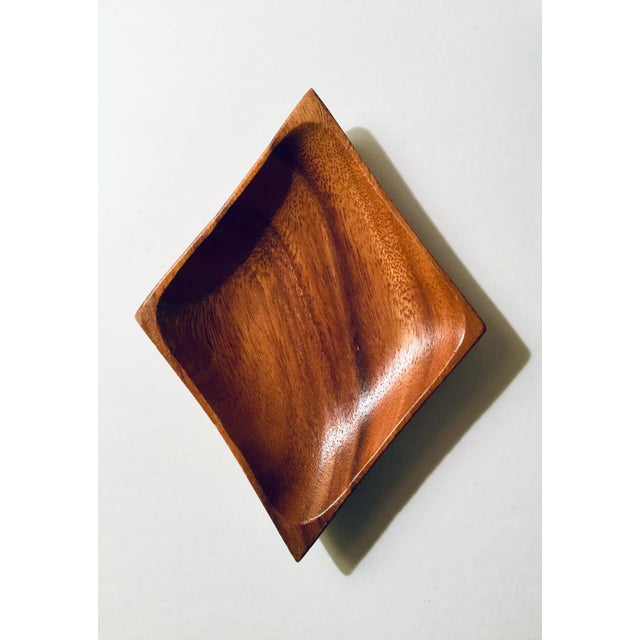 Vintage Mid-Century Card Suit Wood Dish - Set of 4 For Sale - Image 4 of 6