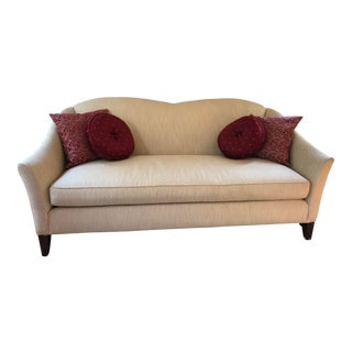 Ethan Allen White Sofa For Sale