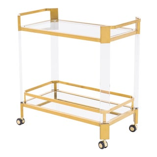Blink Home Bar Antique Gold Trolley For Sale