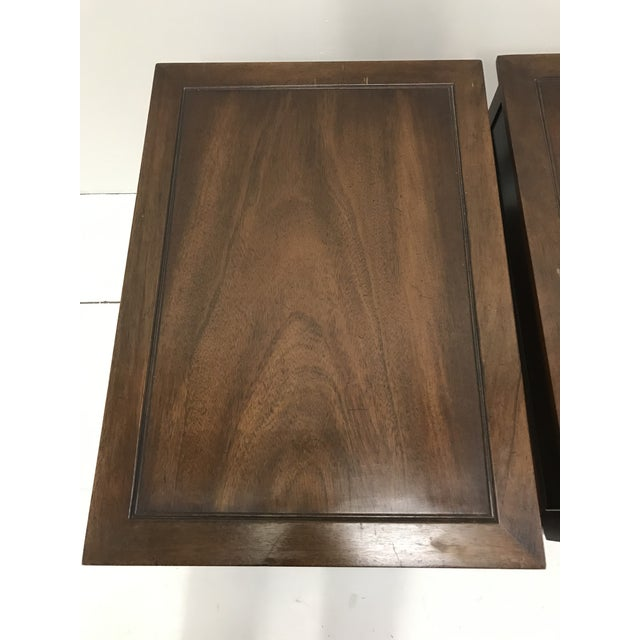 Hekman Furniture Hekman Walnut Side Tables - Pair For Sale - Image 4 of 13