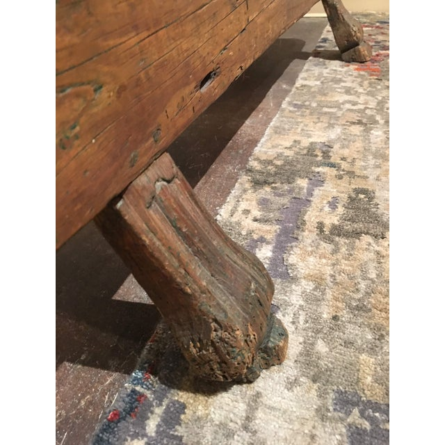 Antique Pine Spinning Wheel For Sale - Image 11 of 13