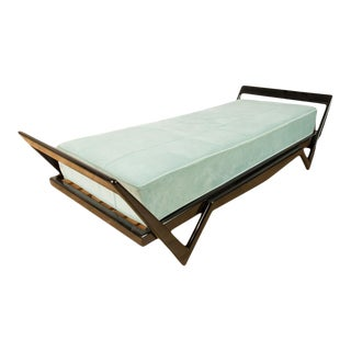 1950s Italian Ebonized Day Bed in the Manner of Ico Parisi For Sale