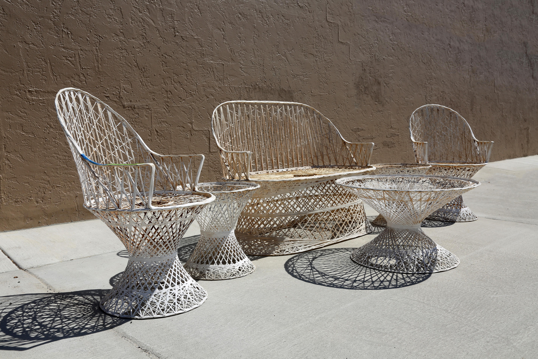 russell woodard spun fiberglass patio furniture set of 6 chairish rh chairish com fiberglass patio furniture cushions' Homecrest Fiberglass Patio Furniture