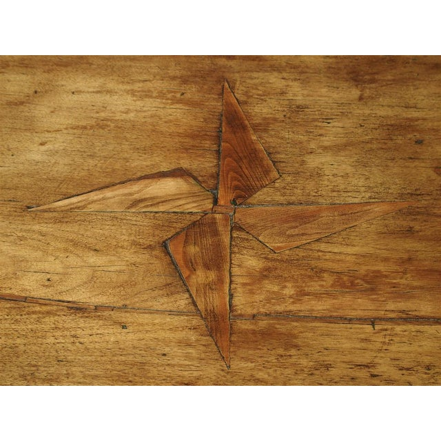 Tan 17th Century Basque Country Writing Table With Inset Star For Sale - Image 8 of 13