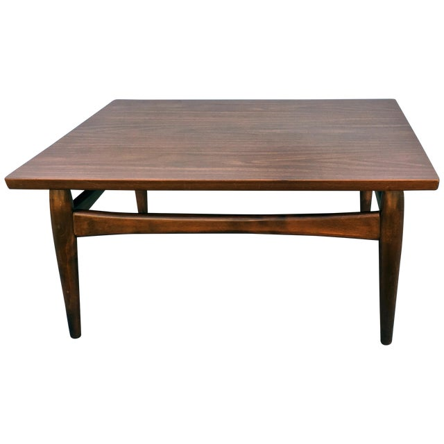 Square Mid-Century Modern Coffee Table - Image 1 of 7