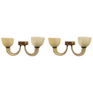 Pair of Barovier e Toso Sconces For Sale