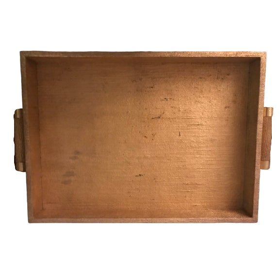 Modern Aerin Gold Linen Tray For Sale - Image 3 of 7